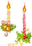 świece świątecznej ilustracji dekoracji wektora Obrazy Royalty Free