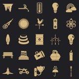 Świecenie ikony ustawiać, prosty styl royalty ilustracja