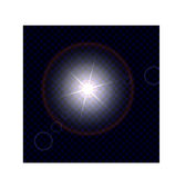 Świecenie od słońca lub jaskrawego źródła światła Obraz Stock