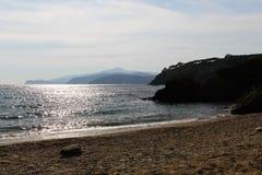 Świecenie słońce na morzu Zdjęcie Stock