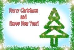 Świecidełko zimy wakacji stylowy kartka z pozdrowieniami Zdjęcie Stock