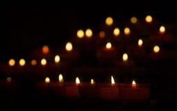 świeczek światła Zdjęcia Royalty Free