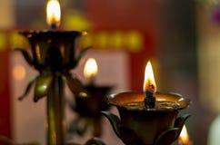 Świeczek światła Zdjęcie Royalty Free