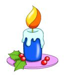 świeczek boże narodzenia Obrazy Royalty Free