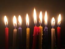 9 świeczek zdjęcie royalty free
