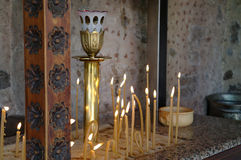 świeczka kościół Obrazy Royalty Free