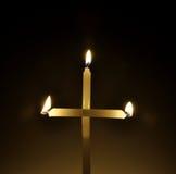 świeczka krzyż Zdjęcie Stock