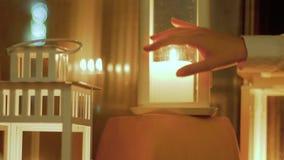 Świeczka lampionów tło zbiory wideo