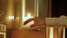 Świeczka lampionów tło zdjęcie wideo