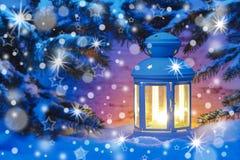Świeczka latern przy nocą Obrazy Stock