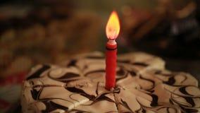 Świeczka na torcie zdjęcie wideo