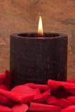 świeczka płatki wzrastali Fotografia Royalty Free