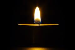 świeczka płomień Zdjęcia Stock
