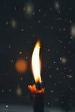 Świeczka płomienia zbliżenie Fotografia Royalty Free