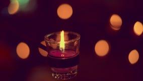Świeczka pali pokojowo zdjęcie wideo