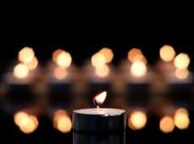 świeczka skupiający się pojedynczy Fotografia Stock
