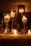 świeczka stół Zdjęcia Royalty Free