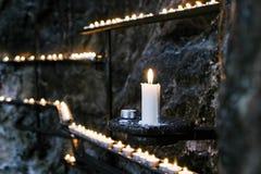 Świeczka w churh zdjęcia stock