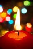 Świeczka w ciemnym zakończeniu up Zdjęcia Stock