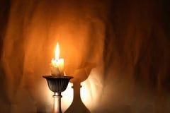 Świeczka Z cieniem obraz royalty free