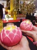 Świeczka zaświecający festiwal Bhuddhism obraz royalty free