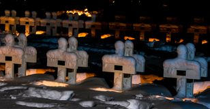 Świeczka zaświecający wojenny pomnik obrazy royalty free