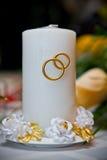 świeczki ślubu biel obrazy stock