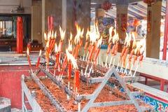 świeczki świątynne Zdjęcia Stock