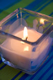 Świeczki światło w świeczka właścicielu Obrazy Royalty Free