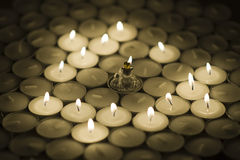 świeczki żaby princess Zdjęcia Royalty Free