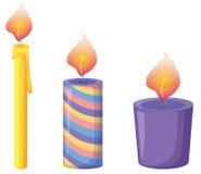 świeczki ilustracja wektor