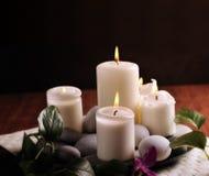 świeczki biały obraz stock