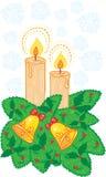 świeczki boże narodzenie Zdjęcia Stock