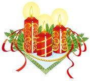 świeczki boże narodzenie Obrazy Stock