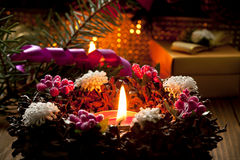 świeczki boże narodzenie Obrazy Royalty Free