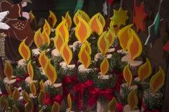 świeczki boże narodzenie Fotografia Royalty Free