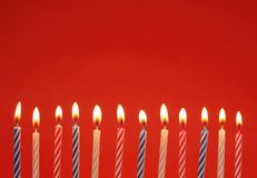 świeczki boże narodzenie Zdjęcia Royalty Free