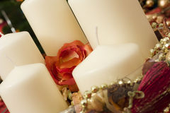 świeczki boże narodzenie paczek Zdjęcia Stock