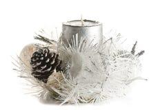 świeczki bożych narodzeń świąteczny ornament Obrazy Royalty Free