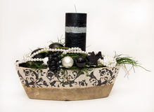 świeczki bożych narodzeń dekoracja Zdjęcia Royalty Free
