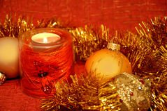 świeczki bożych narodzeń skład Zdjęcia Royalty Free