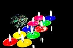 świeczki bożych narodzeń zbliżenia widok Zdjęcie Stock