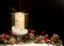 świeczki bożych narodzeń zima Zdjęcia Royalty Free
