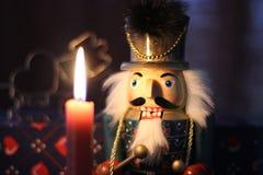 świeczki dziadek do orzechów Zdjęcie Stock