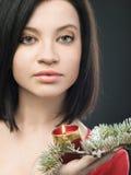 świeczki dziewczyna Fotografia Stock