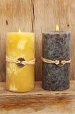 świeczki feng shui dwa Zdjęcia Royalty Free