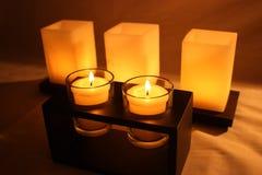 świeczki grżą zdjęcie stock