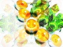 Świeczki i jabłka Zdjęcie Royalty Free