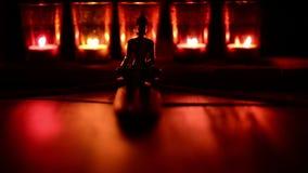Świeczki i kadzidło kij Buddha zdjęcie wideo