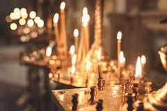 Świeczki i lampowy zakończenie Zdjęcia Stock